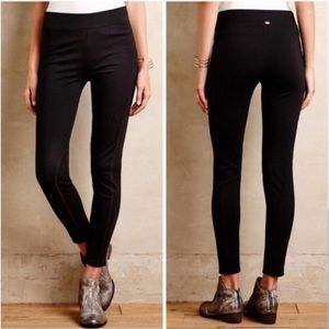 Anthropologie Pure+Gold cropped black leggings